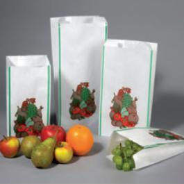 Witte fruitzakken met standaarddruk