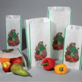 Witte parafruitzakken met standaarddruk